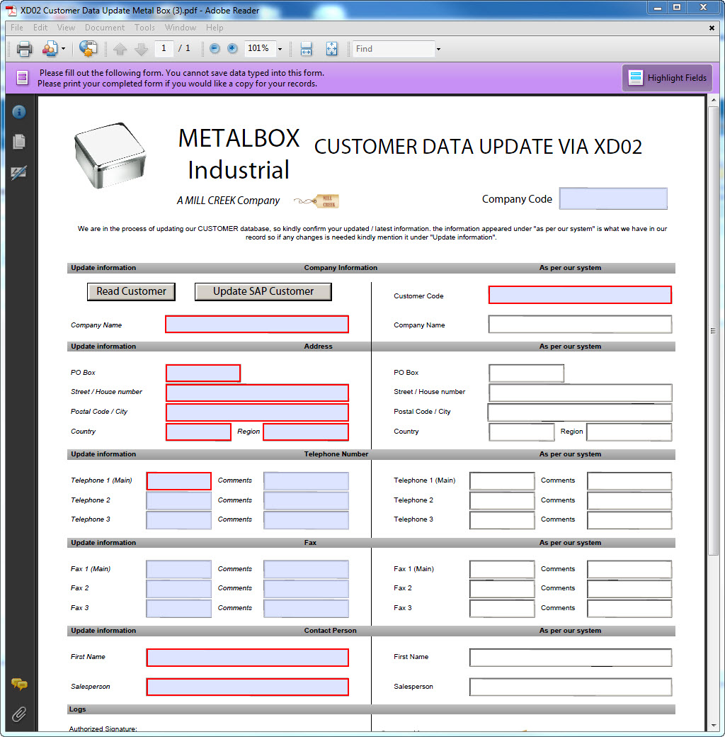 Automate process to create and change SAP customer master data