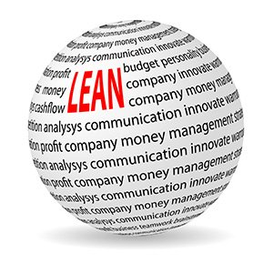 Illustration of lean strategy ball