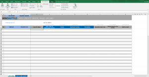 iw31 excel template screen shot