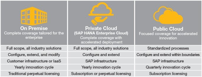 SAP S/4HANA deployment options
